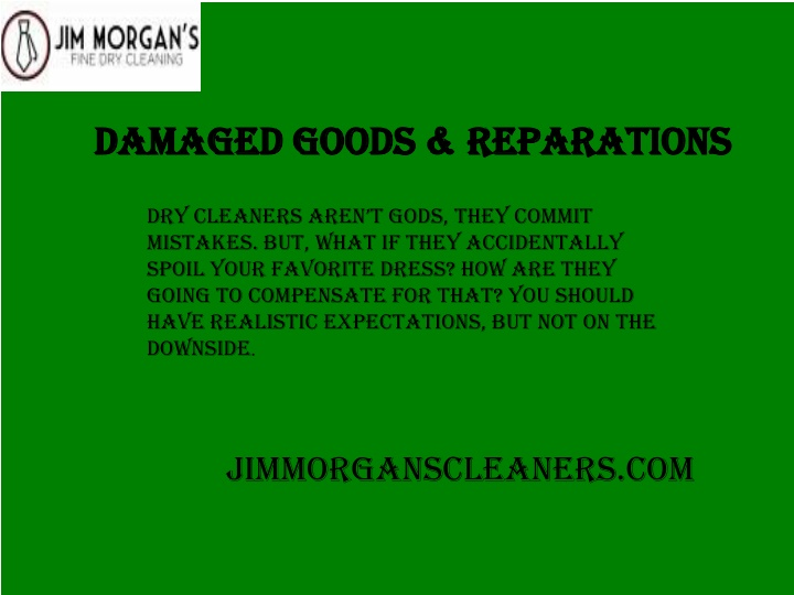 damaged goods reparations n.