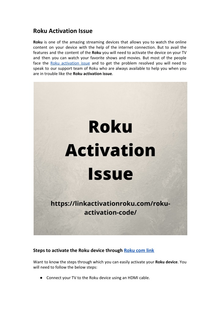 roku activation issue roku is one of the amazing n.