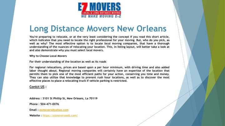 long distance movers new orleans n.