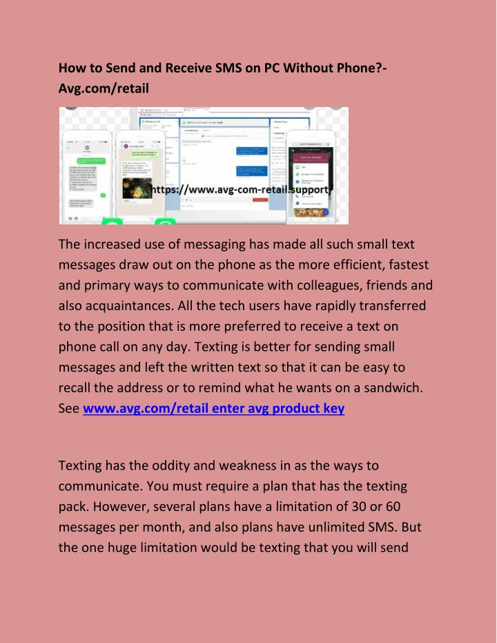 how to send and receive sms on pc without phone n.