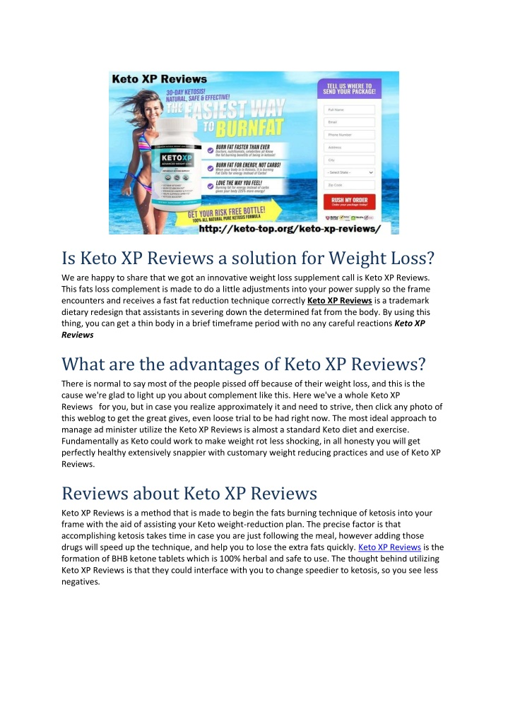 is keto xp reviews a solution for weight loss n.