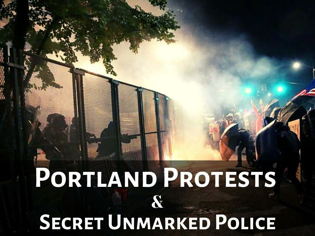 federal law enforcement officers confront portland protesters l.
