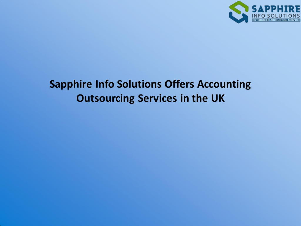sapphire info solutions offers accounting l.