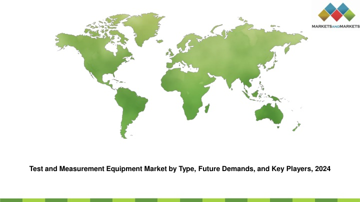 test and measurement equipment market by type n.