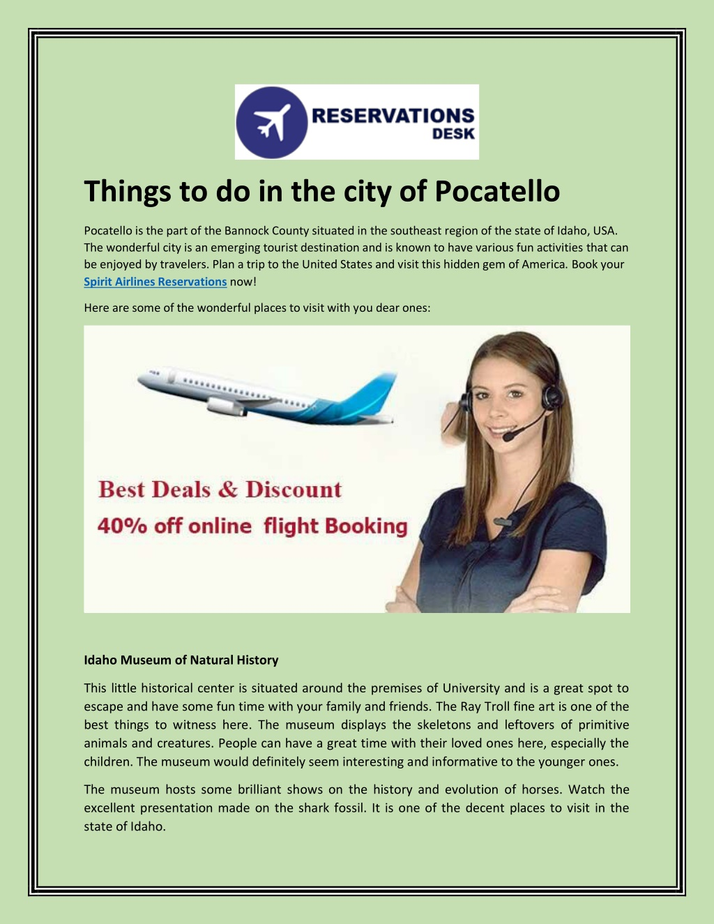 things to do in the city of pocatello l.