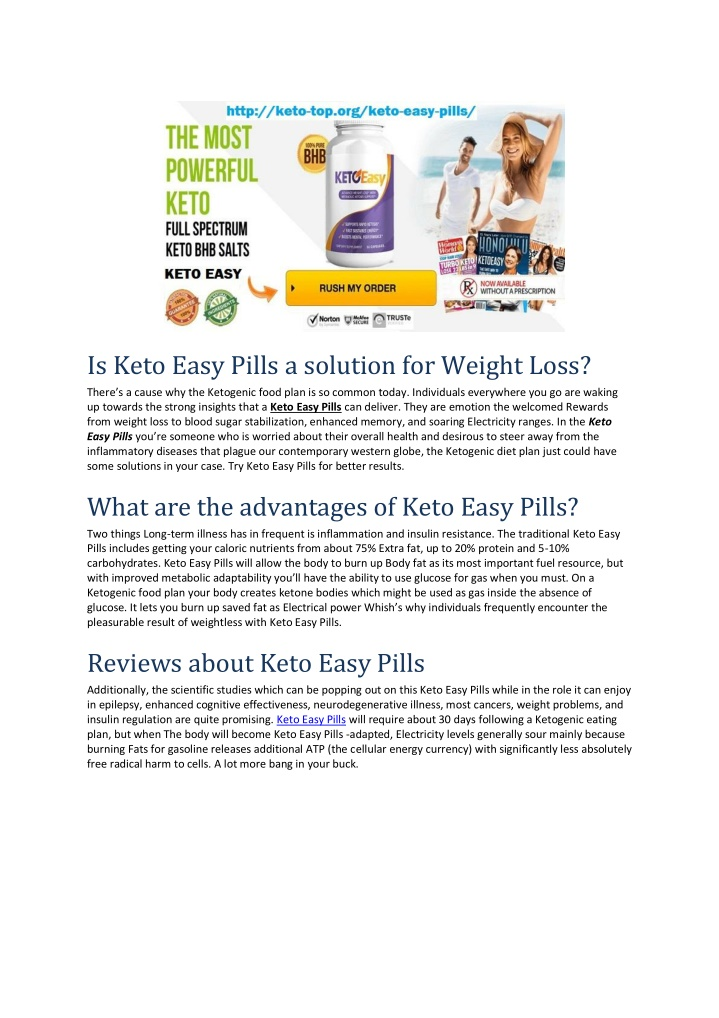is keto easy pills a solution for weight loss n.