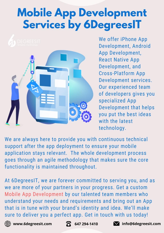 mobile app development services by 6degreesit l.