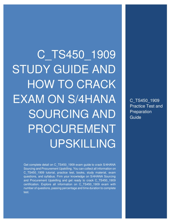c ts450 1909 study guide and how to crack exam n.