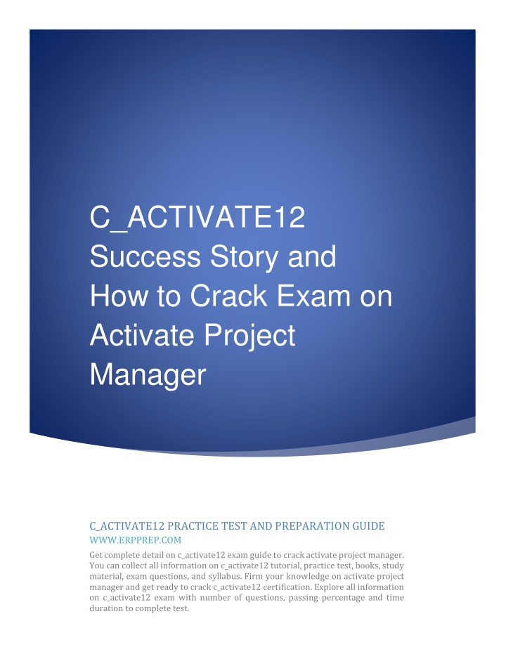 c activate12 success story and how to crack exam n.