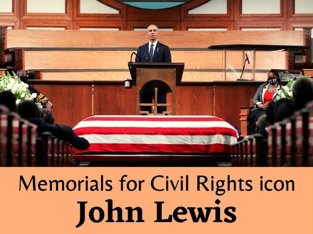 memorials for civil rights icon john lewis l.