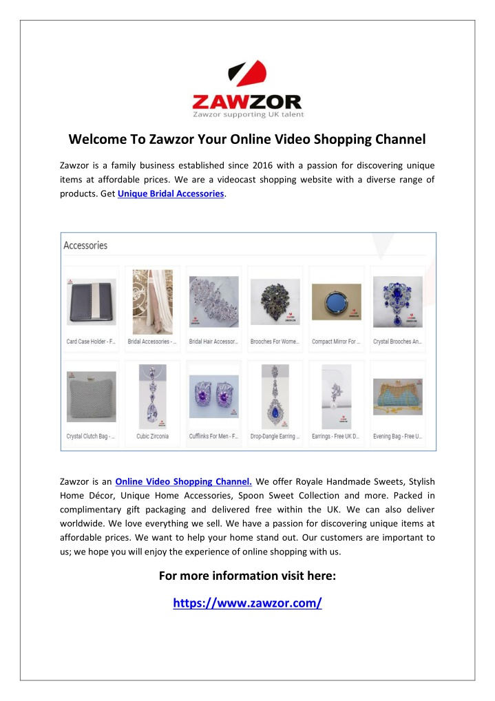 welcome to zawzor your online video shopping n.