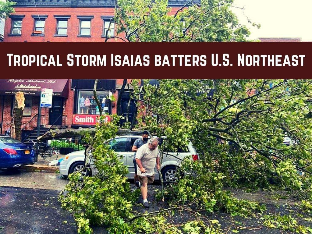 tropical storm isaias batters u s northeast l.