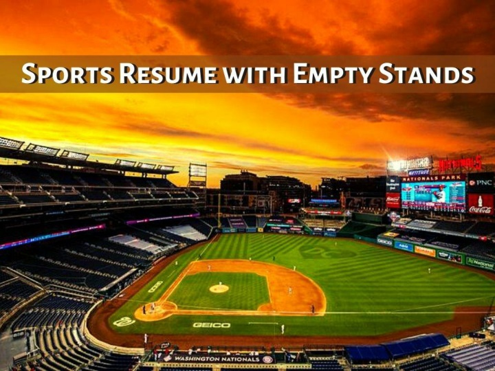 sports resume with empty stands n.