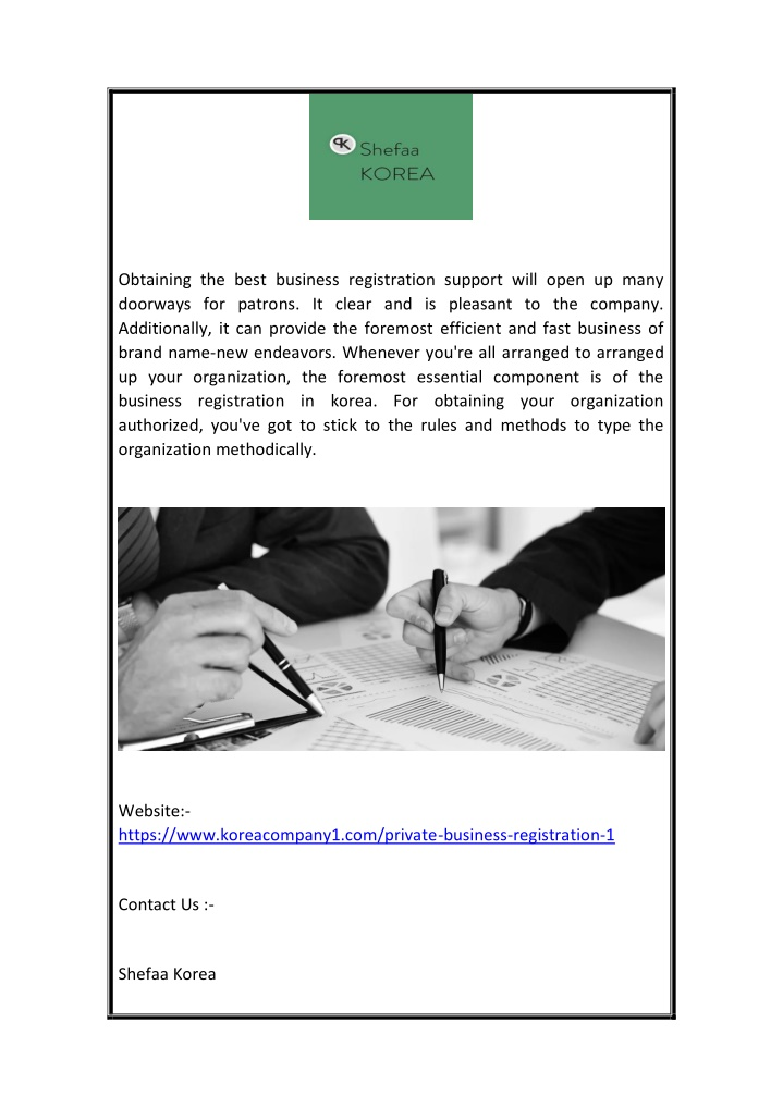 obtaining the best business registration support n.
