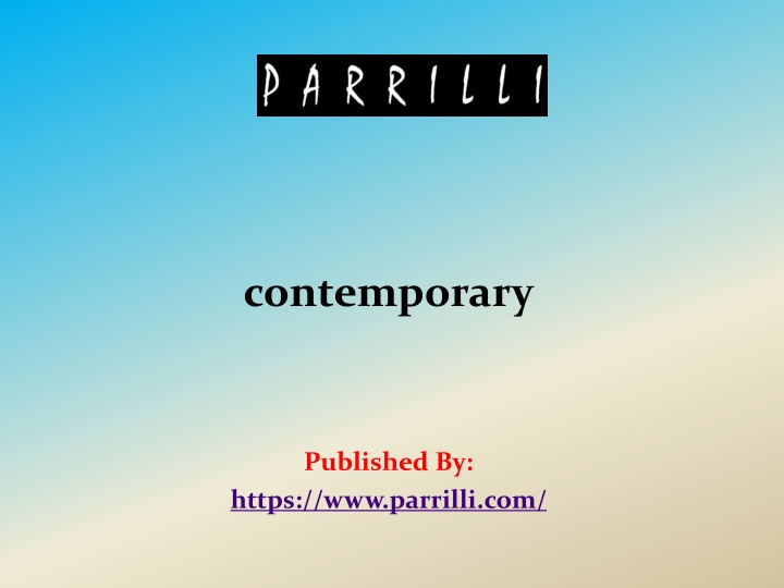 contemporary published by https www parrilli com n.