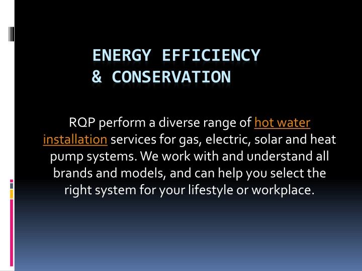 energy efficiency conservation n.