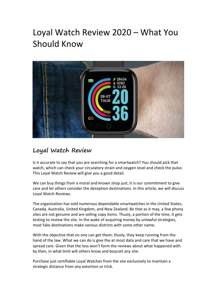 loyal watch review 2020 what you should know n.