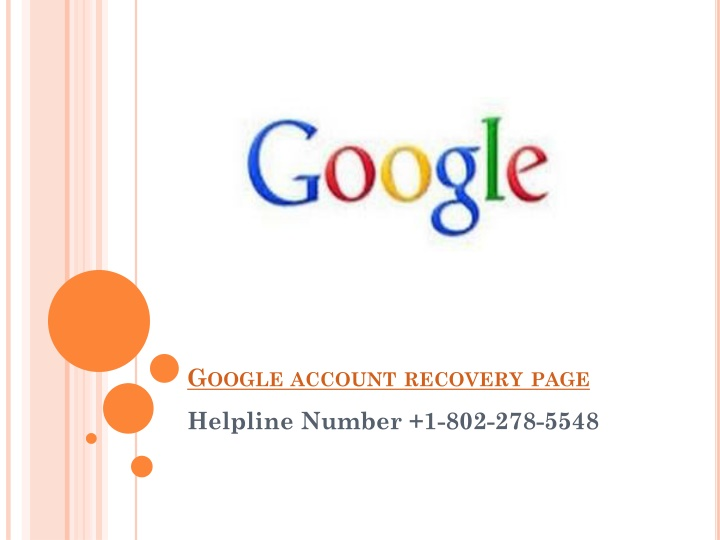 google account recovery page n.