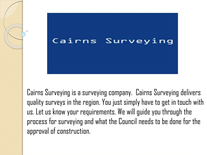 cairns surveying is a surveying company cairns n.