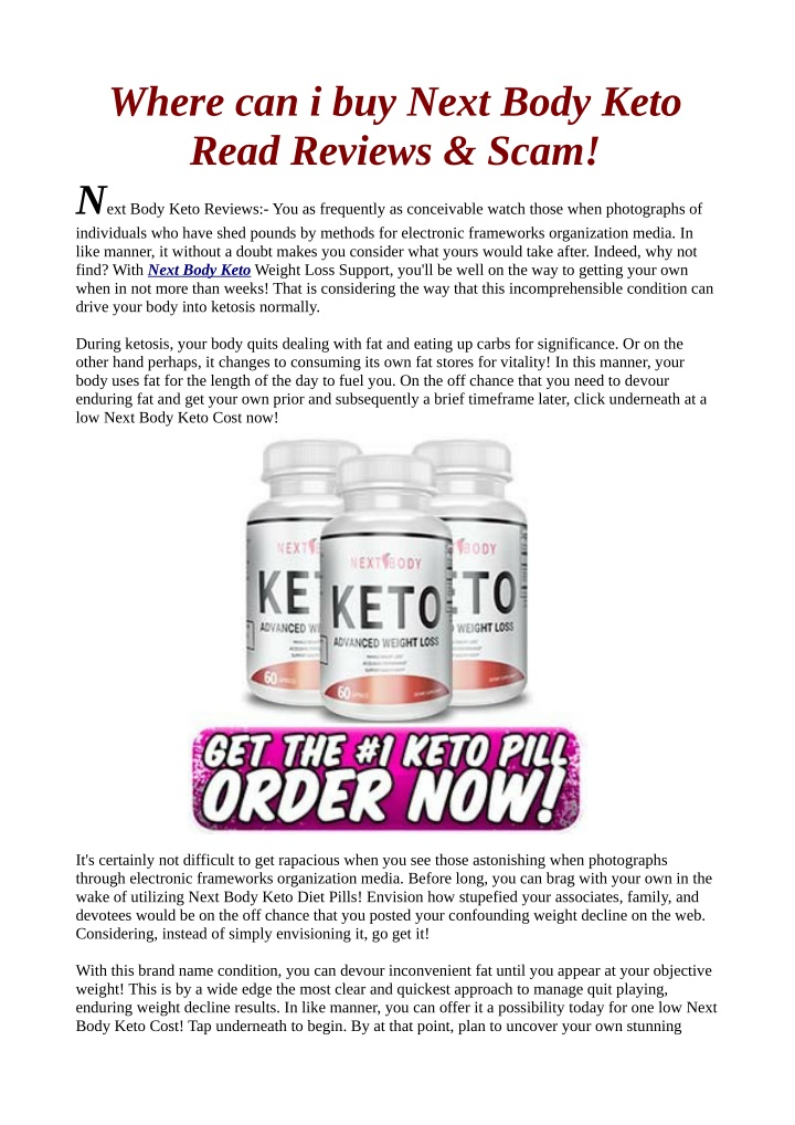 where can i buy next body keto read reviews scam n.