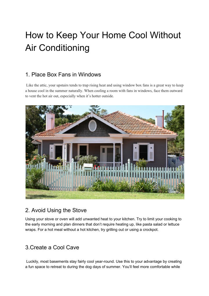 how to keep your home cool without n.