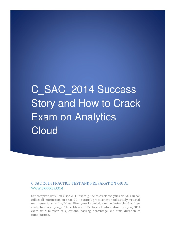 c sac 2014 success story and how to crack exam n.