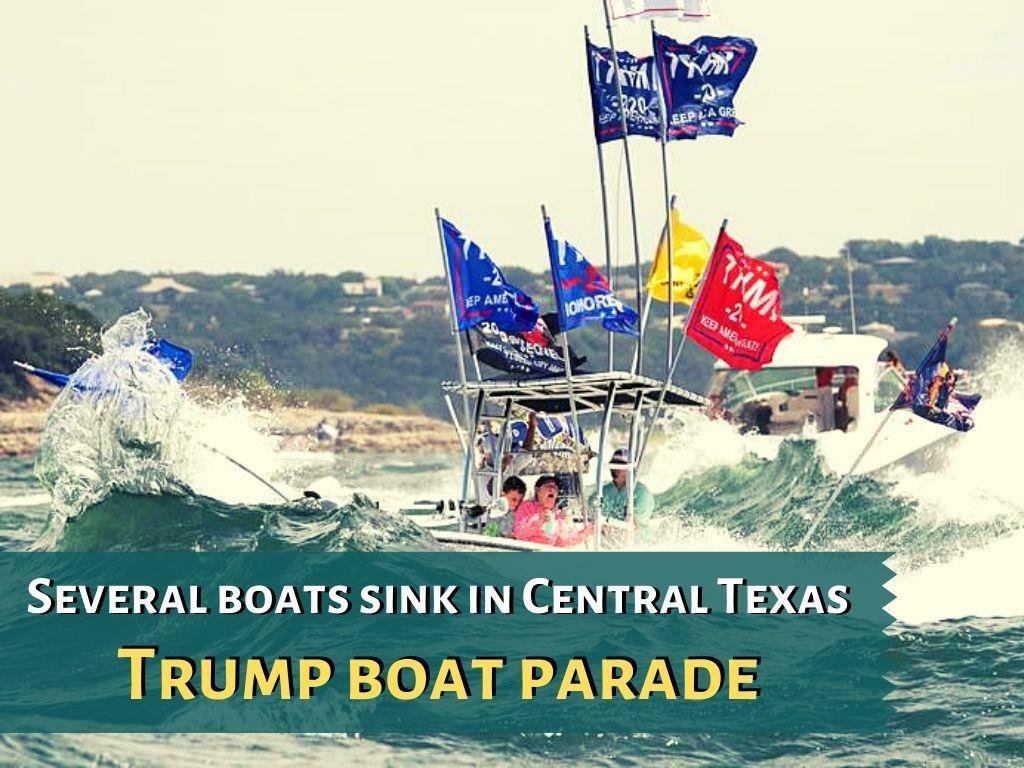 several boats sink at trump parade on texas lake l.
