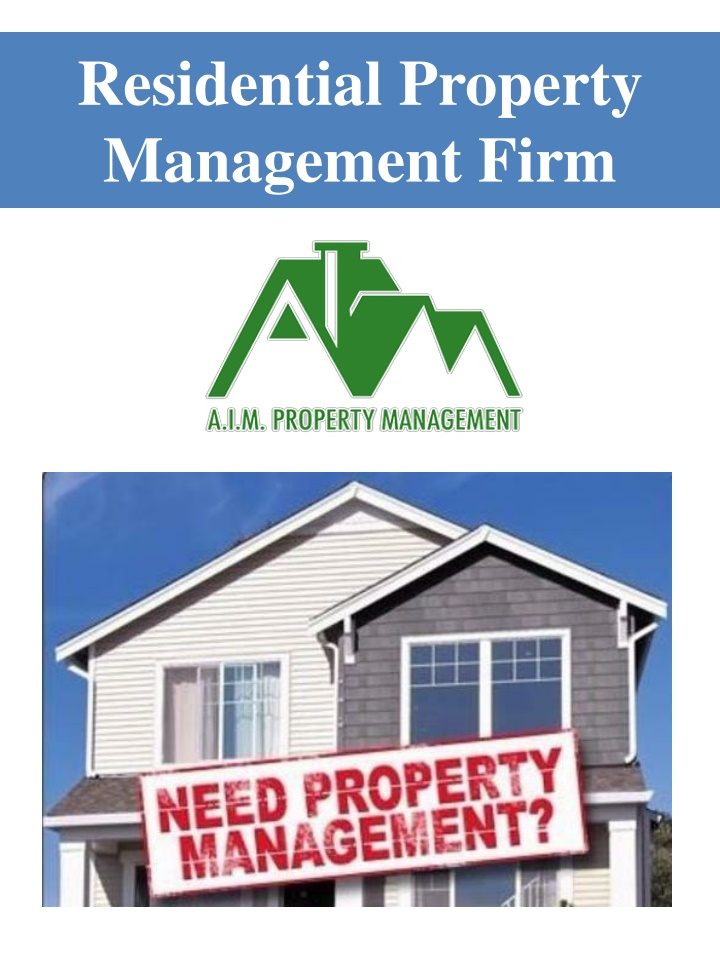 residential property management firm n.