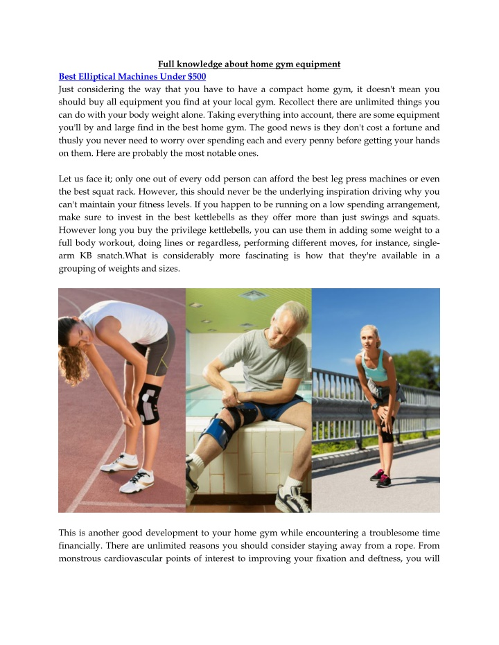 full knowledge about home gym equipment n.