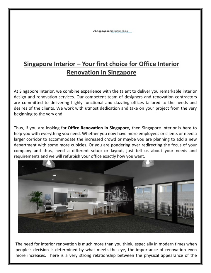 singapore interior your first choice for office n.