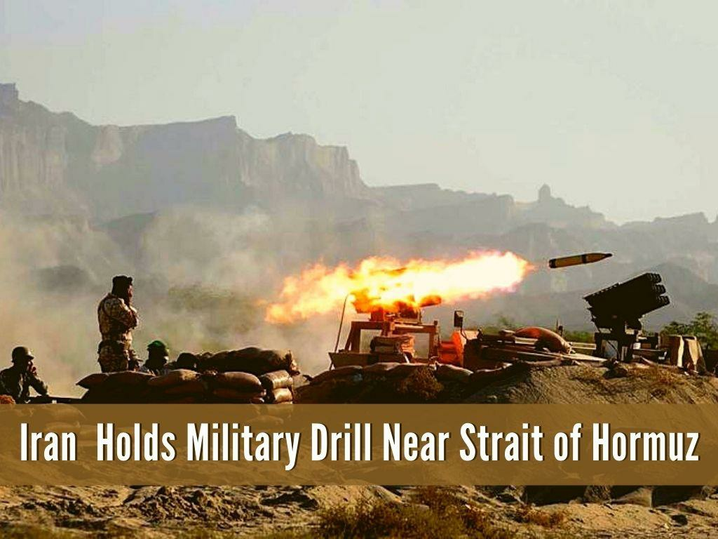 iran holds military drill near strait of hormuz l.