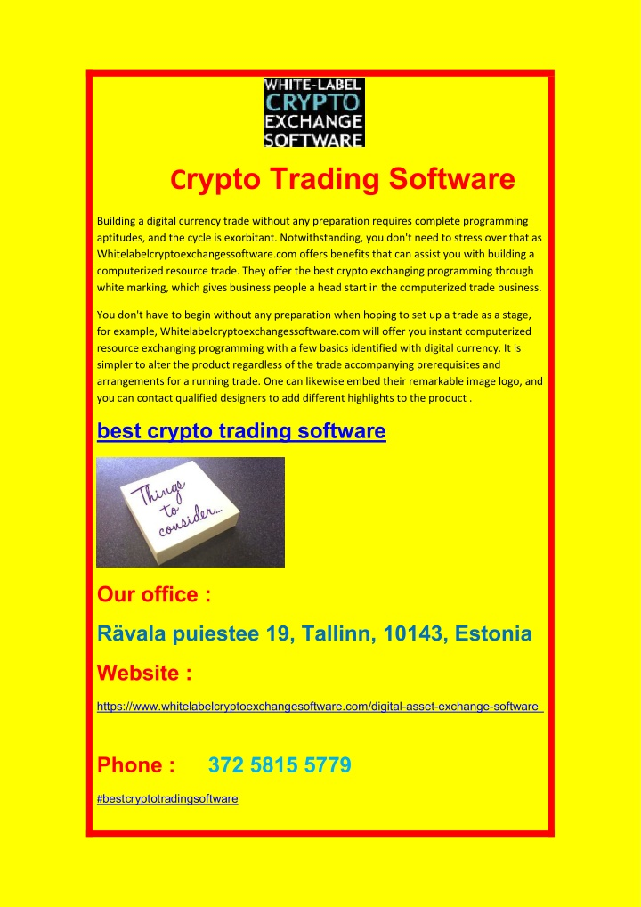 c rypto trading software n.