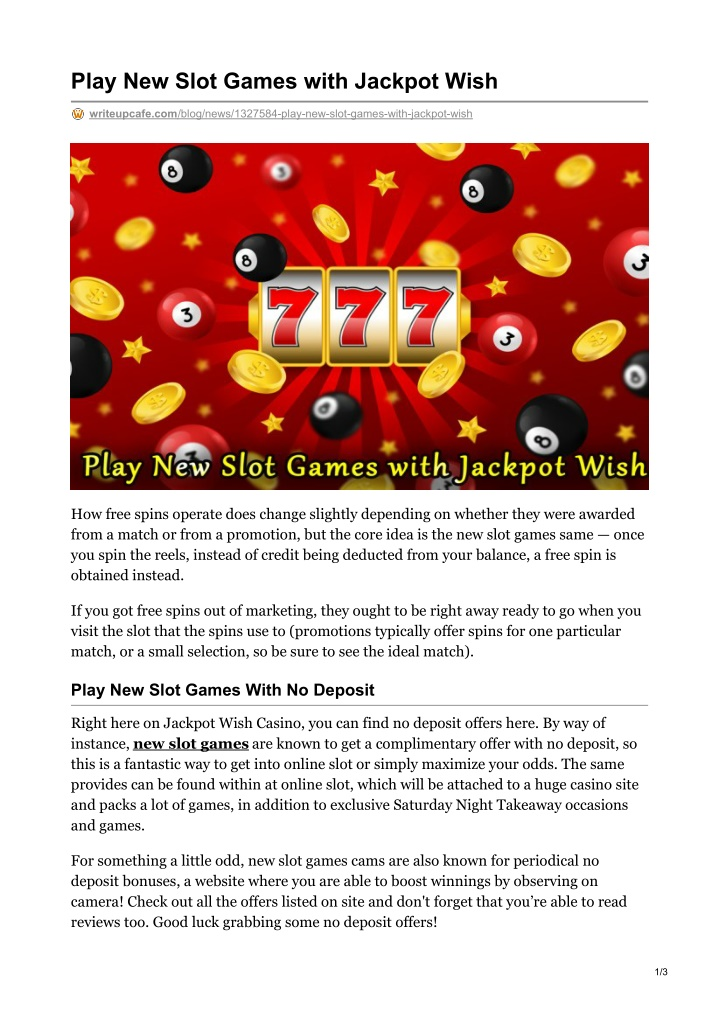 play new slot games with jackpot wish n.