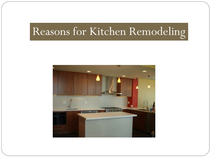 reasons for kitchen remodeling n.