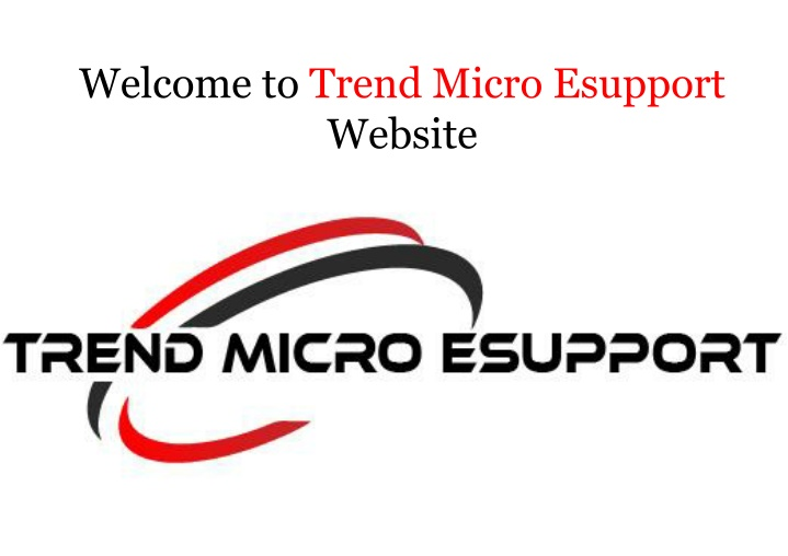 welcome to trend micro esupport website n.