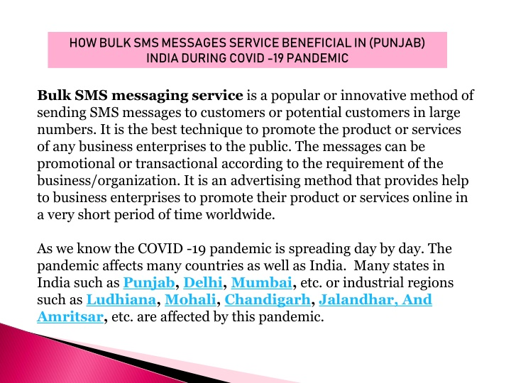 how bulk sms messages service beneficial n.