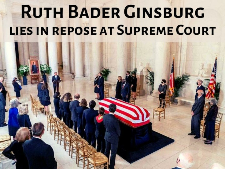 ruth bader ginsburg lies in repose at supreme court n.