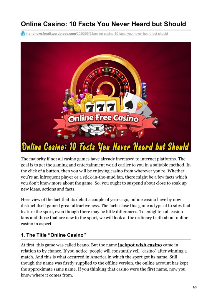 online casino 10 facts you never heard but should n.
