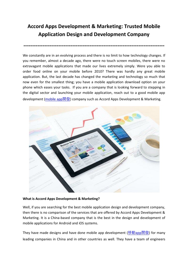 accord apps development marketing trusted mobile n.