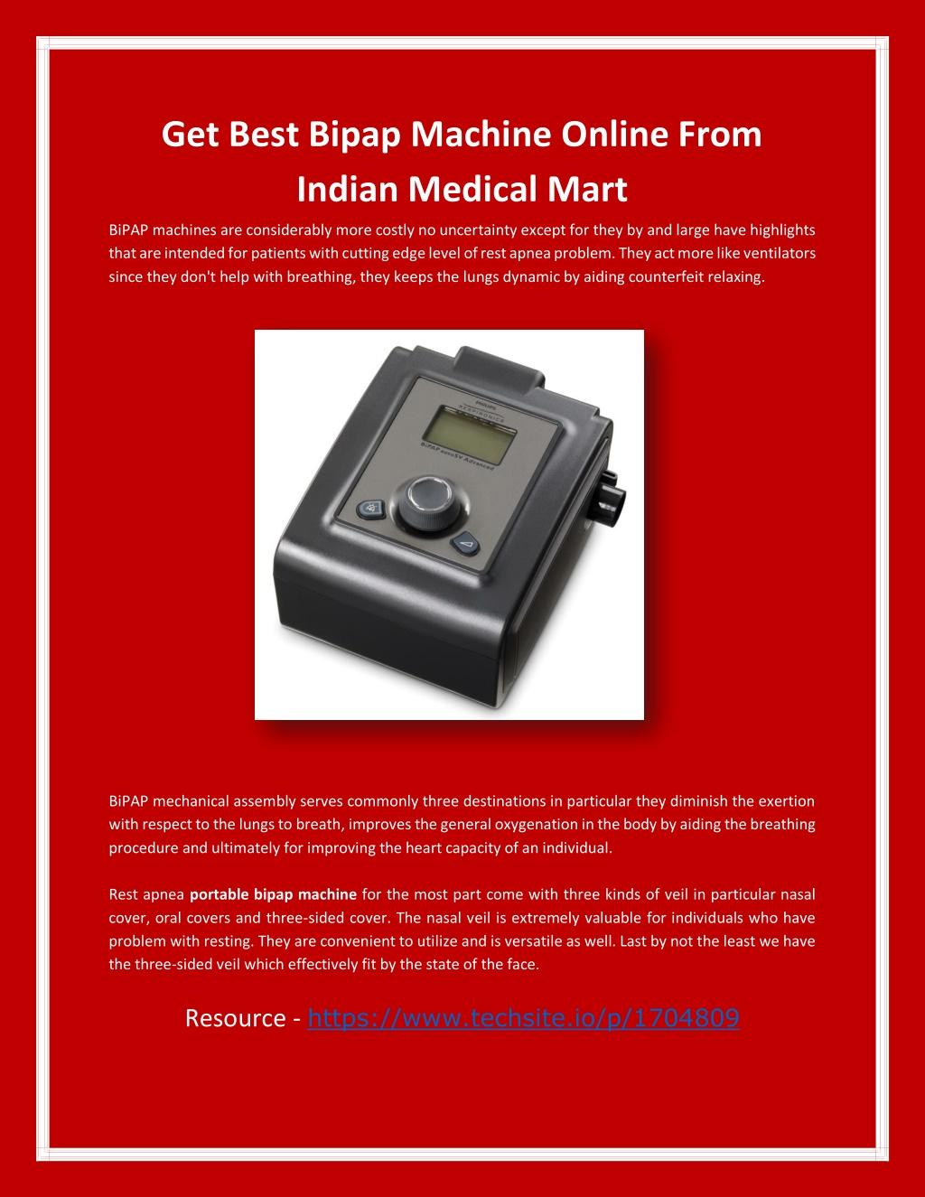 Get Best Bipap Machine Online From Indian Medical Mart