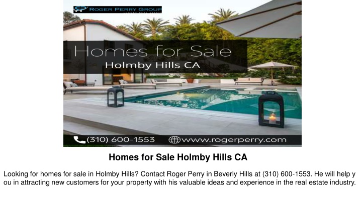 homes for sale holmby hills ca n.