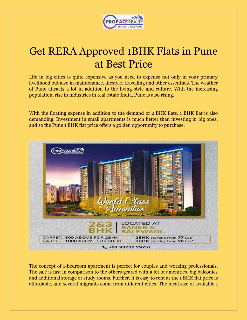 Get RERA Approved 1 BHK Flats in Pune at Best Price!