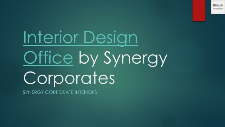 interior design office by synergy corporates n.