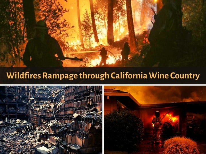 wildfires rampage through california wine country n.