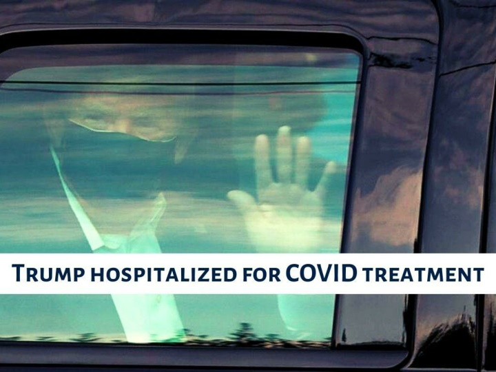 trump hospitalized for covid treatment n.