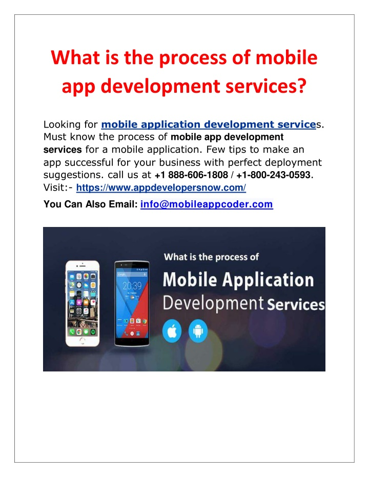 what is the process of mobile app development n.