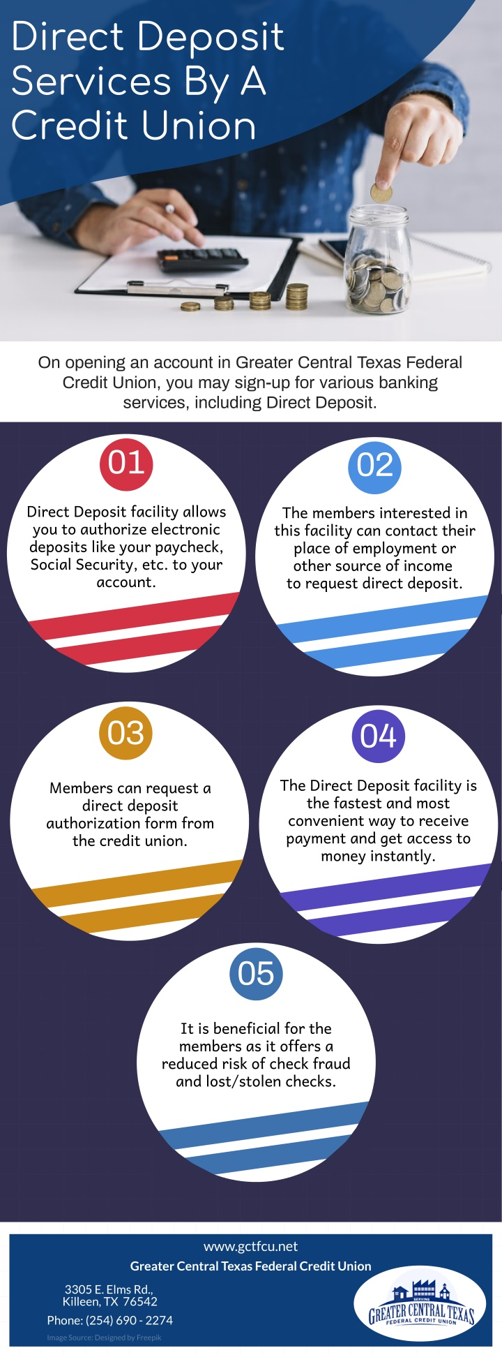 direct deposit services by a credit union n.