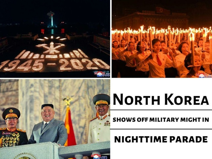 north korea shows off military might in nighttime parade n.