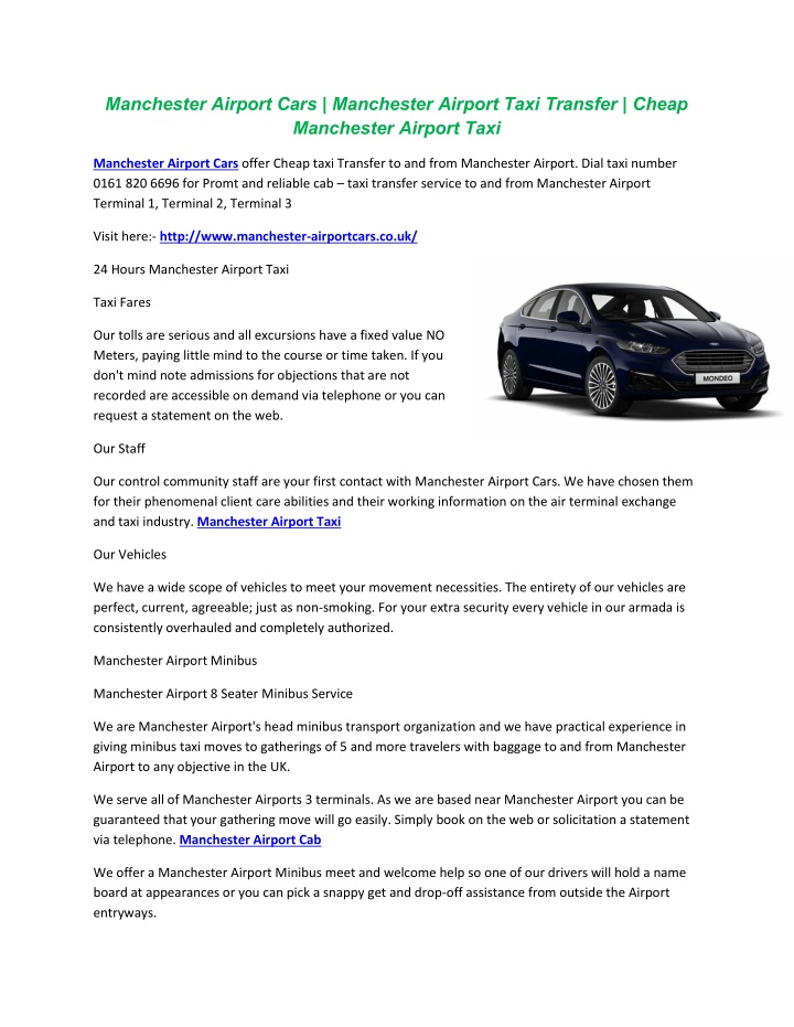 manchester airport cars manchester airport taxi n.