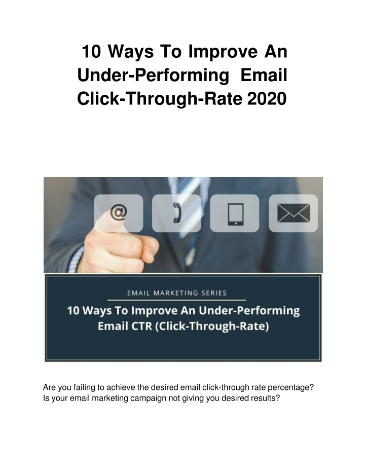 10 ways to improve an under performing email click through rate 2020 n.
